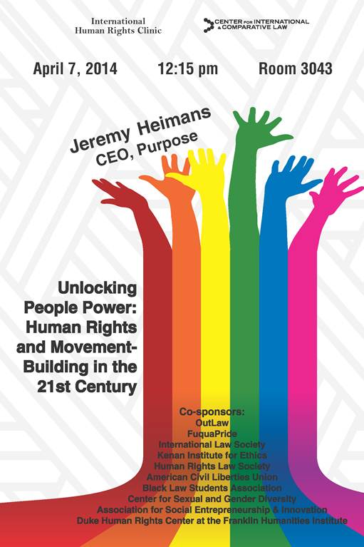 Unlocking People Power: Human Rights and Movement-Building in the 21st Century