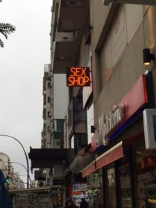 A sex store in Recoleta, which I passed daily when I was living in this upscale neighborhood last year during my study abroad program.