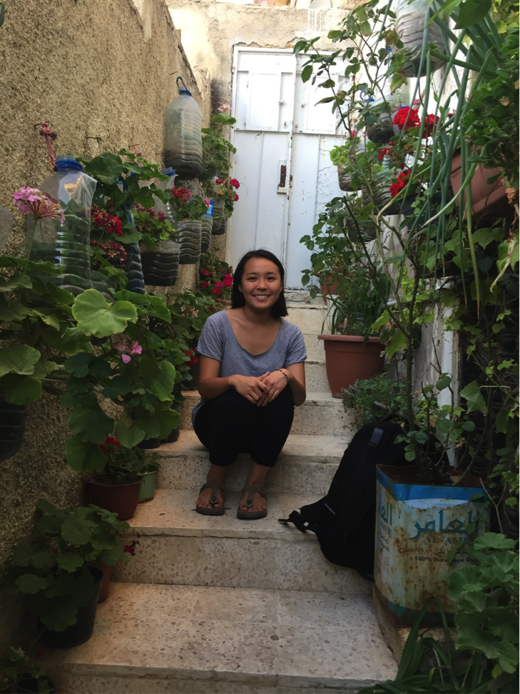 Diana Dai, in a photo taken by Mary (a pseudonym) in Amman, Jordan