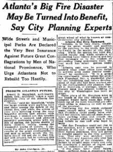 The Great Atlanta Fire of 1917