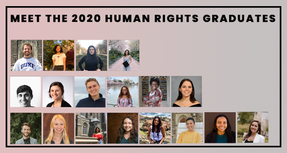 Meet the 2020 Human Rights Certificate Graduates