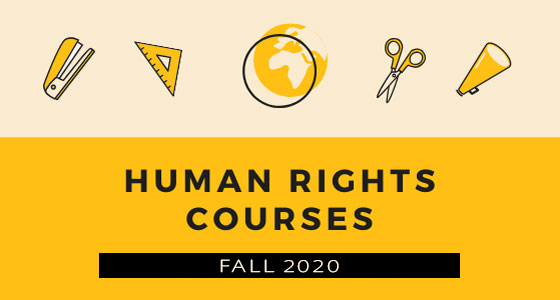 Check out the 2020 Fall Human Rights Courses
