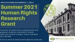Apply for Human Rights Summer Research Grant